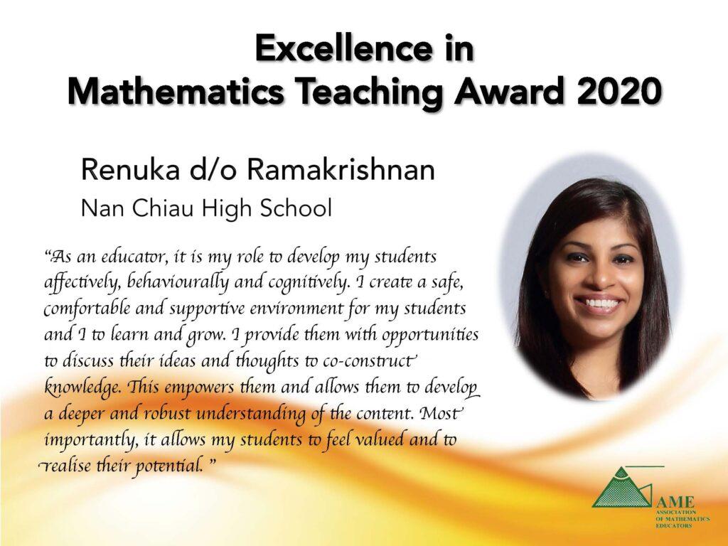 Renuka d/o Ramakrishnan