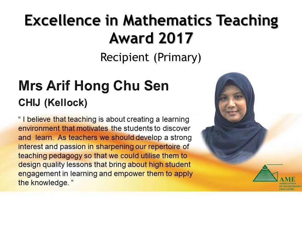 Mrs Arif Hong Chu Sen